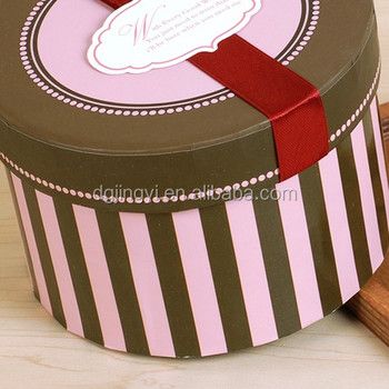 Custom colorful paper cardboard round toy packaging box for children's gifts