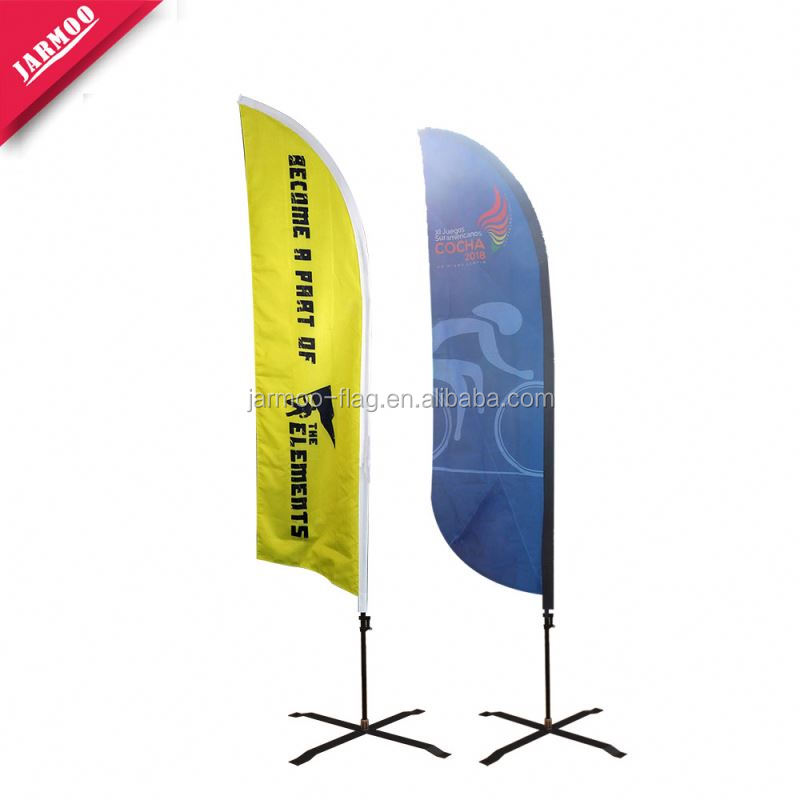 Widely Used Custom Size Beach Flag Banner For Publicity