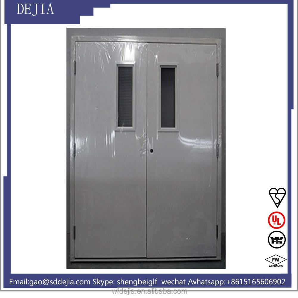 Double Leaf Fully Insulated Fireproof Wooden Doors(1.5h)