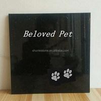 Laser Etched Granite Pet Memorials