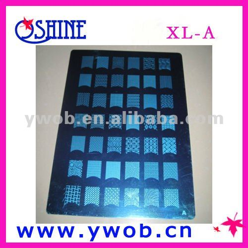 XL templates for nail art/nail stamping plates