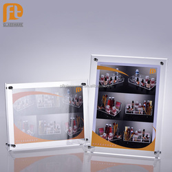 China Wholesale Fancy Design High Quality Acrylic Tabletop Frame Display Lucite Plexiglass Picture Frame