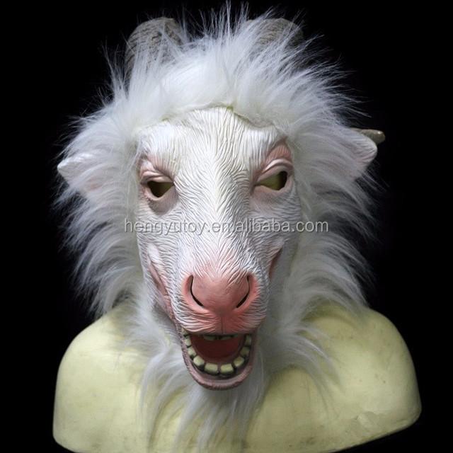 New Arrive Rubber Halloween Latex Goat Mask Latex Sheep Head Mask