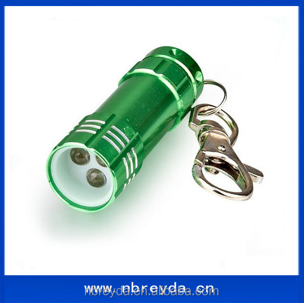 Small Battery Keychain Mini 3 Led Torch Lights