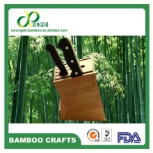 [Bamboo King] 5 slot bamboo kitchen knife block universal knife holder without knife