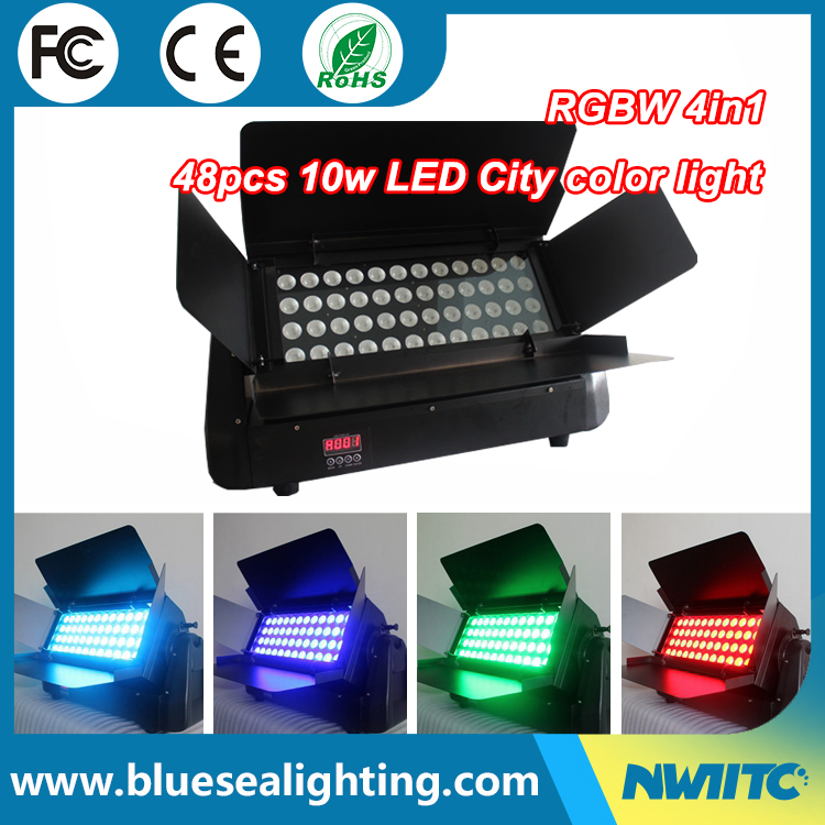 IP65 outdoor Rotating 48*10W led color city wall wash light