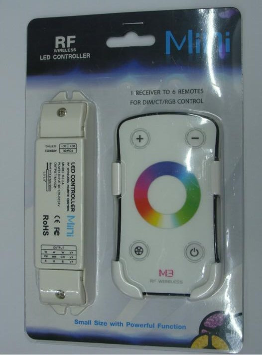 ir 44 key led rgb controller six RF remote control to one receiver with 4,096 per channel grayscale