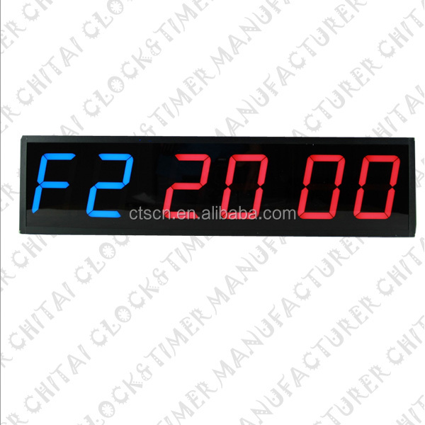 New Countdown/Countup/Stopwatch/Interval Timer/Normal Clock 6 Digit 7 Segment LED Display
