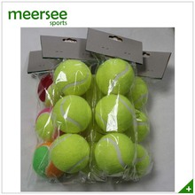Customized Logo Printed Bag Packed Yellow Polyester promotional tennis ball