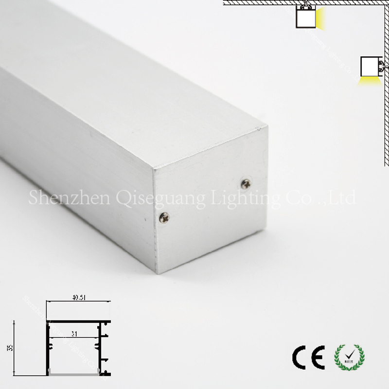 Linkable Led Linear Aluminum Light Fixtures Aluminum Light Bar Fixtures Profile For Rigid Pcb Led Light Strips