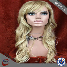 How to Teasw a Synthetic Wig , Mixed Blonde & Brown Color Belle Madame German Synthetic Hair Wig