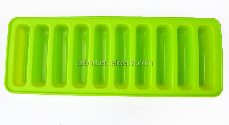 2015 amazon new design silicone Icy Bottle Sticks Trays,silicone personalized ice tray on sale
