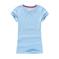 2016 latest pink lady short sleeve slim fit breathable crew neck tshirt