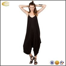 OEM wholesale Women loose fit All In One Romper Spaghetti Strap Beach harem pants womens jumpsuit
