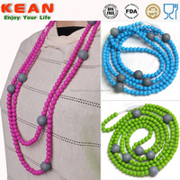 Baby Amber Teething Necklaces/ 2014 China Supplier Silicone Amber Necklace Silicone Teething Necklace
