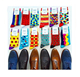 Happy Socks ,Wholesale Custom Colorful Jacquard Socks,Fashion Design Man Dress Socks