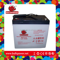 Agm deep cycle gel batteries 12v 55ah for UPS/EPS