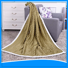 Dot printing 2 ply super soft chunky king size throw blanket