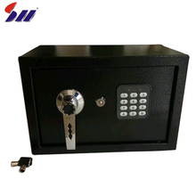 Factory direct sell black heavy duty steel hotel digital secret safe lockers box