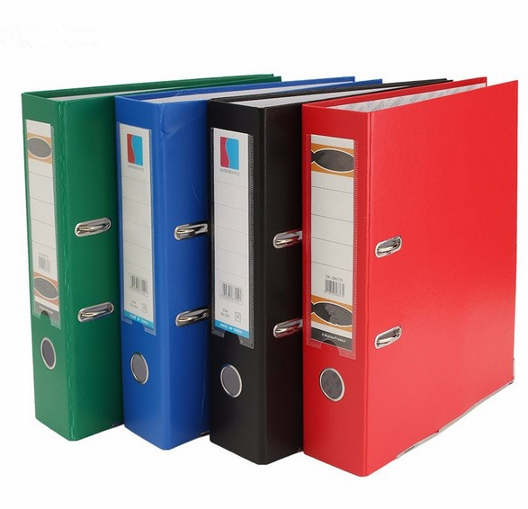 A4 Large Lever Arch File Folder with Ring Binder Metal Finger Pull hard cover file Folder For Office School Supplies