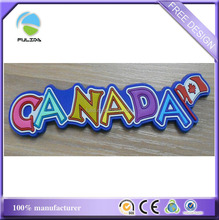 small quantity Canada letters with map flag soft pvc rubber fridge magnet