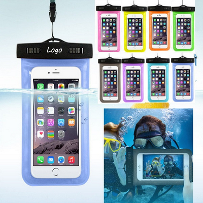 Waterproof Imprinted Clear PVC Cell Phone Pouch