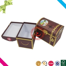 Custom printed pretty storage cardboard treasure chest box