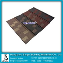 0.4mm Thickness Metal Roof Sheets Products Sun Stone Coated Roof Tile