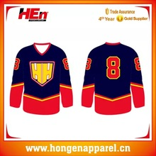 Digital Printing Ice Hockey Uniform, Dri Fit Ice Hockey Top Hockey League