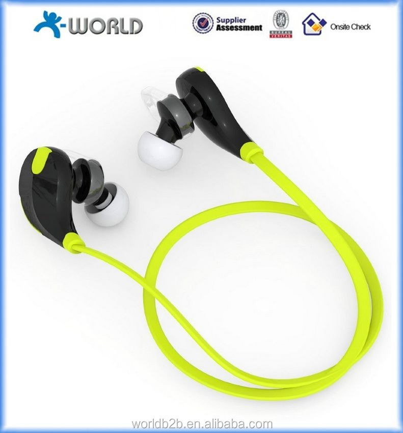 Upgraded Sweatproof Wireless bluetooth v4.0 bluetooth headset Noise Cancelling Headphones w/ Microphone