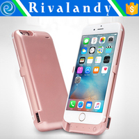 2200mAh for iPhone 5 5s Backup Power Bank Battery Charging Case with Stand/USB