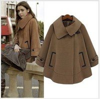 2015 Autumn europe new ladies clothes cloak fashion winter coat woolen coat