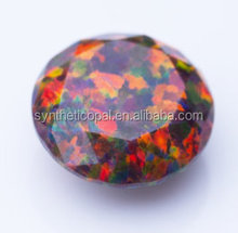 Synthetic Opal diamond cut / Round Brilliant Cut 78 colors Lab Created