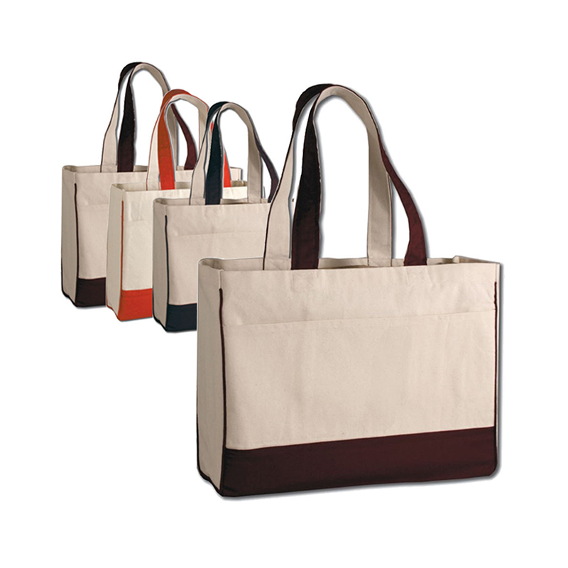 Manufacturer cotton tote bag canvas expandable file tote bag