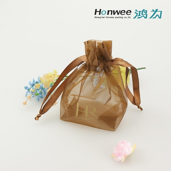 Wedding Favor Bag Cosmetic Promotion Drawstring Bag Organza Gift Bags ...