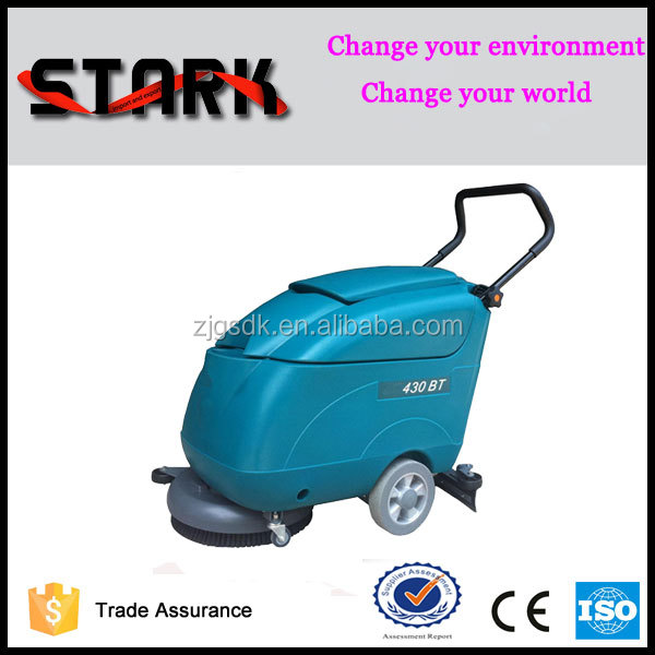 SDK-430BT cleaning in place hand push manual floor cleaning machine,floor scrubber dryer