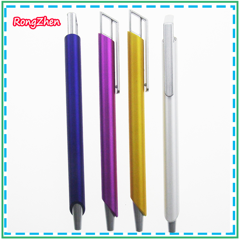 New Arrival Commercial metal ball point pen gift pen core solventborne automatic ballpoint pen