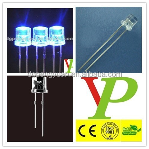 ultra bright lowest price 5mm flat top 460nm blue led diode
