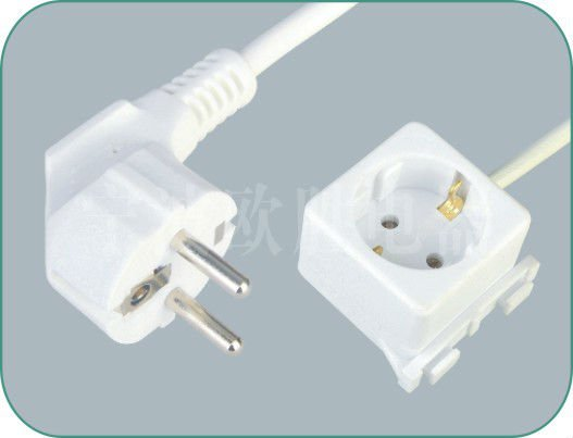 VDE socket 3 pins extension power cords