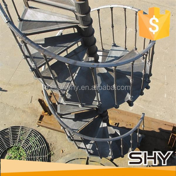 Cast Iron Outdoor Spiral Stairs
