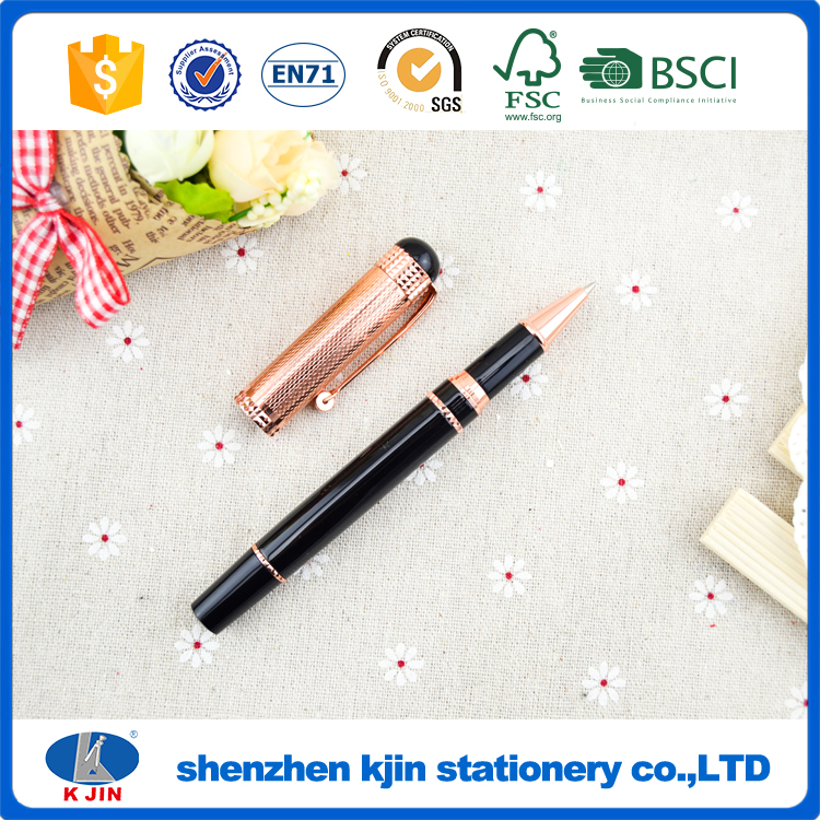rose pink imprinted personalize gift metal ballpen made in china