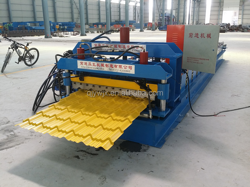 Glazed steel tile type and roof use corrugated sheet machine price