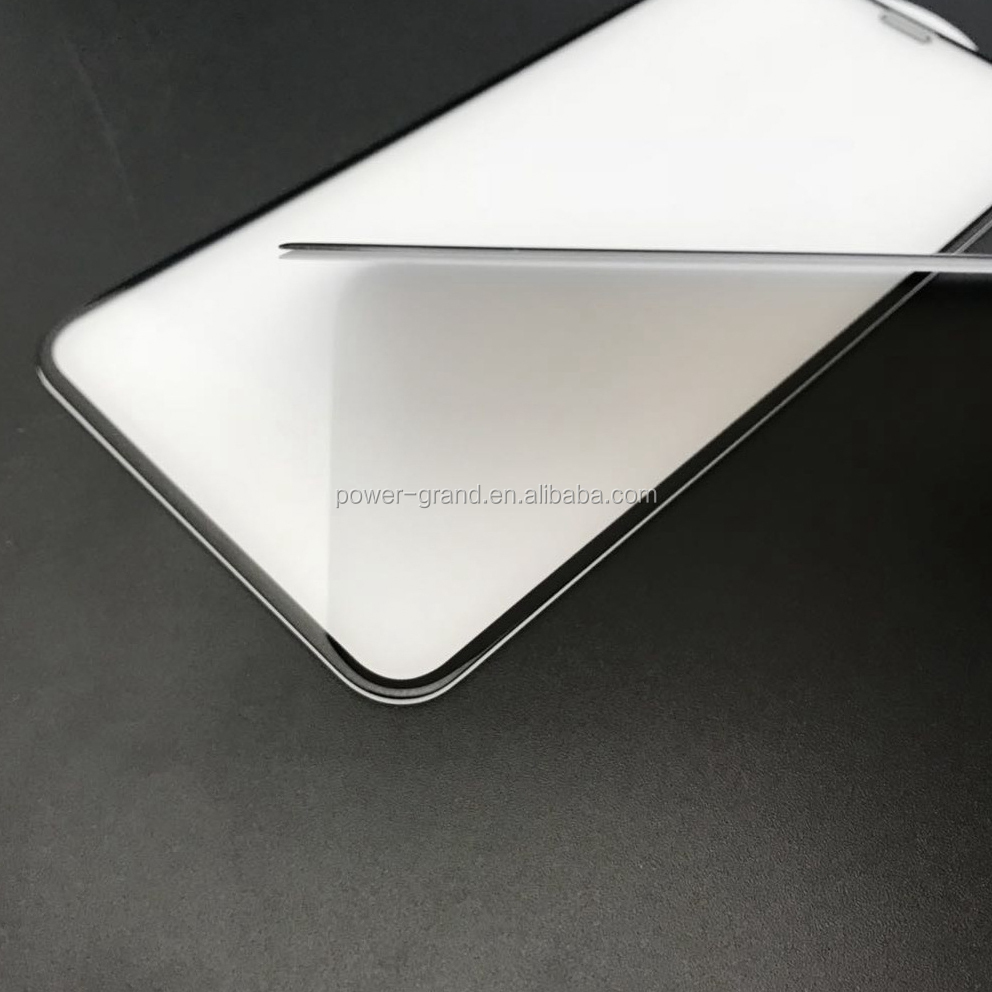 Real 5D  dust-proof Cold Carving 5D Curved full glue full cover Tempered glass screen protector for iPhone XS XS Max XR