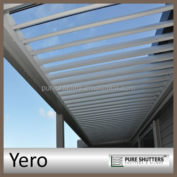 YERO motorized opening Aluminum louver waterproofing metal roof