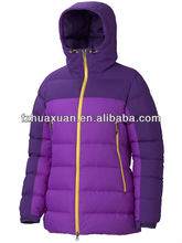 High quality ladies skintight hoodie goose down jackets