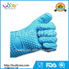 Silicone heat resistant baking grill gloves, 5 fingers oven mitt for kitchen usage