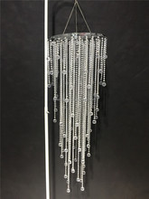 Larger pearl beaded chandelier/hanging wedding centerpieces decorative