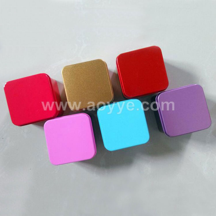 Wholesale multi-functional coffee gift candy packaging little iron box square metal jewelry soap receive tin box