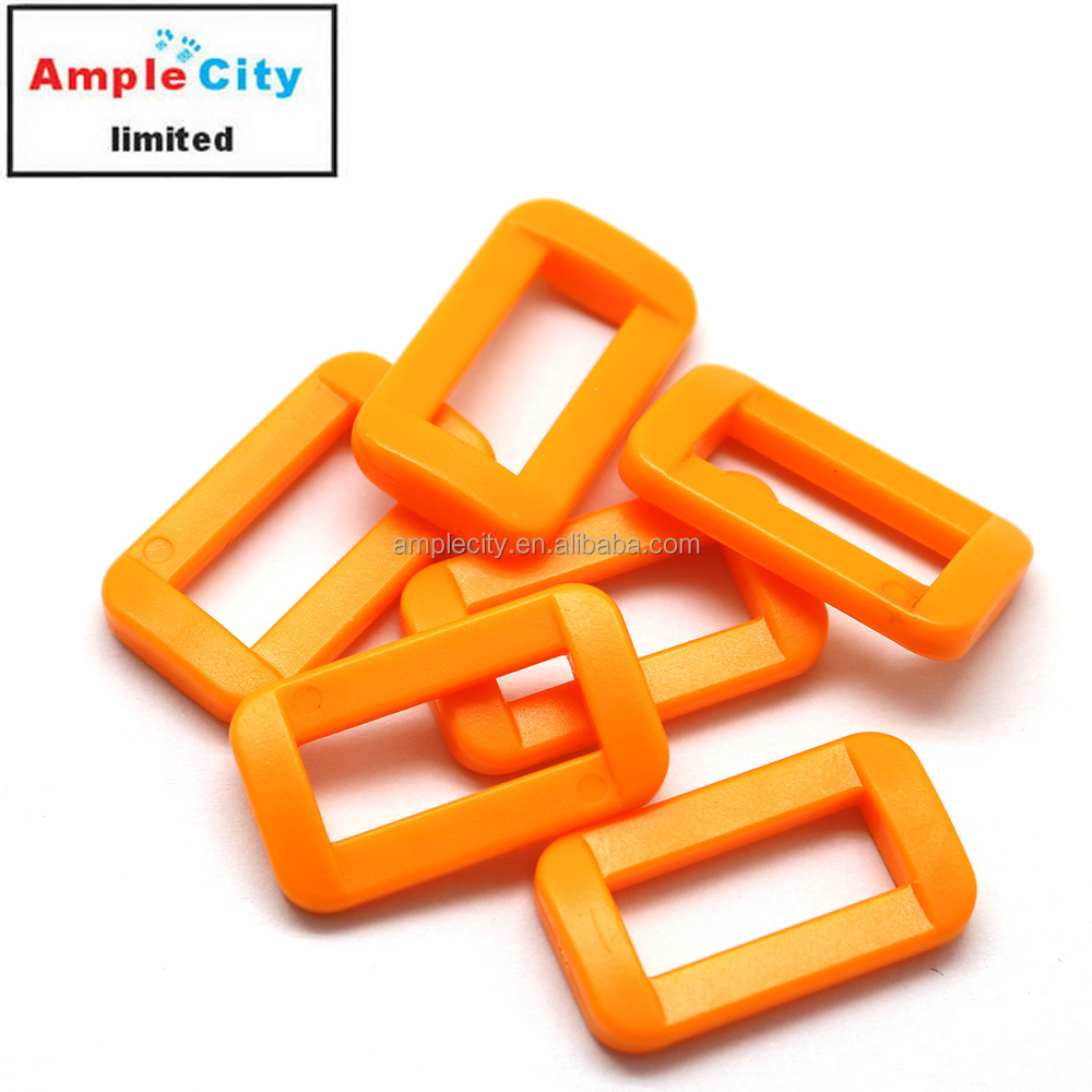 plastic rectangle strap slide buckle for children school bag