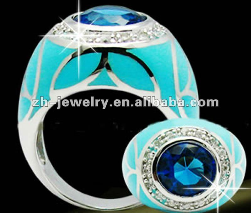 mens sapphire turquoise ring